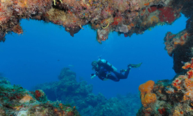 Cave diving Cozumel